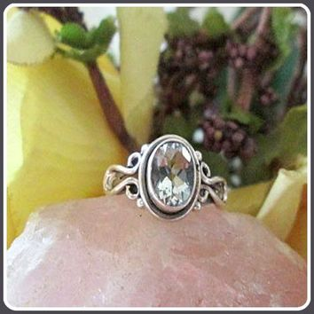 """Balancing"" Clear Quartz Sterling Silver Ring"