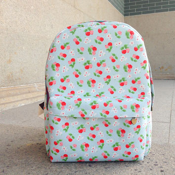 Lovely Korean Canvas Casual Cute Backpack = 4887764548