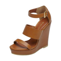 Lizzie Wedge in Oak Vachetta | Family | Mulberry