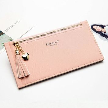 Women Ultra-Thin Wallet 16 Card Slot Card Holder Phone Purse