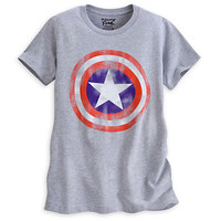 Captain America Shield Tee for Women by Mighty Fine