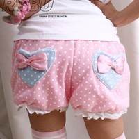 Candy BabyDoll Japan Decora Pastel Pink Polkadot Pumpkin Diaper Bloomer Shorts