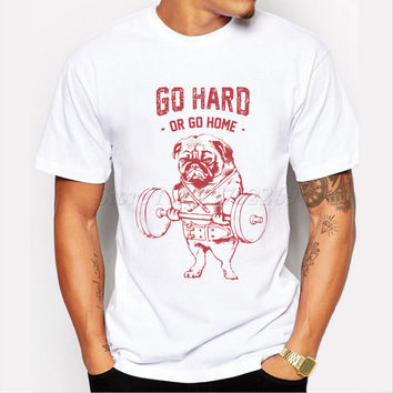 Fashion Exercise Hard Design Mne's Creative Printed T-shirt Short Sleeve Male Funny Tops Hipster Casual Tee