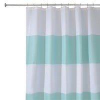 "InterDesign Zeno Shower Curtain - Blue/White (72x72"")"