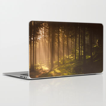 Morning forest Laptop & iPad Skin by Tomas Hudolin