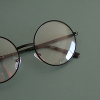 The Vintage LENNON Glasses...clear lens. lennon. round lens. retro. rad. hipster. urban. rock n roll. party. costume. round lens. disco