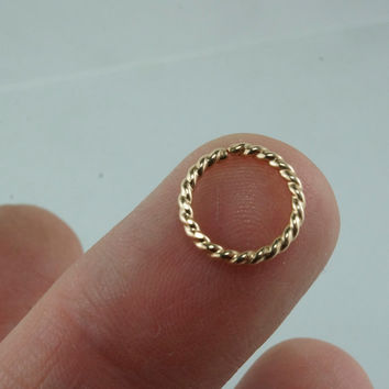 16 gauge cartilage ring 14 kt GOLD FILLED 10mm hoop. earring. piercing. septum. brow. endless. catchless. 16g wire No.00E500