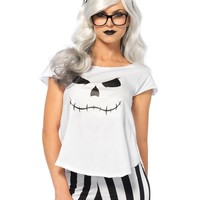 Women Black and White Hipster Skeleton Fancy Dress and Halloween Costume