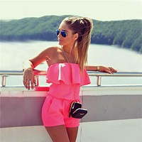 Women Fashion Jumpsuit Strapless rompers