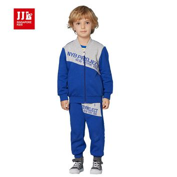 jjlkids toddler boys suit spring boys outfits outdoor kids sports suit boys clothing children clothing sets size 4-11t brand