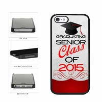 Graduating Senior Class of 2015 Plastic Phone Case Back Cover iPhone 5 5s includes BleuReign(TM) Cloth and Warranty Label