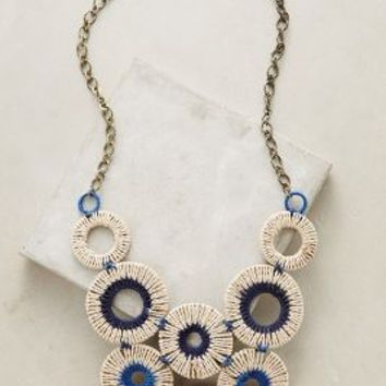 Vespri Bib Necklace by Anthropologie in Blue Size: One Size Necklaces