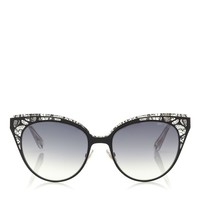 Brown, Rose Crystal Lace Sunglasses | Estelle | Eyewear Collection | JIMMY CHOO Sunglasses