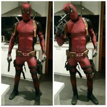 Anime Wade Winston Wilson cosplay Unisex Red full body spandex Boy Adult Zentai bodysuit Deadpool Halloween fancy ball costumes