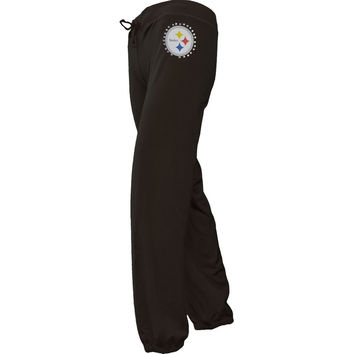 Pittsburgh Steelers - Jewel Logo Girls Youth Sweatpants