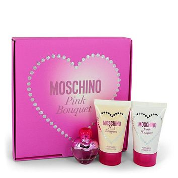 Moschino Pink Bouquet by Moschino Gift Set -- .17 oz Mini EDT + 0.8 oz Body Lotion + 0.8 oz Shower Gel for Women