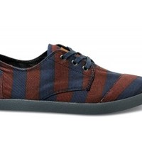Burgundy Denim Stripe Men's Paseos