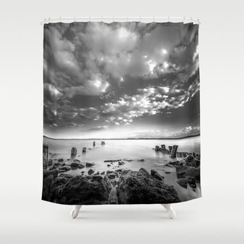 Docklands Shower Curtain by HappyMelvin