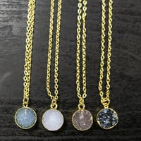 Round Druzy Necklace - MEGHAN BO DESIGNS