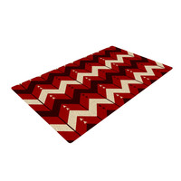 "Nick Atkinson ""Chevron Dance Red"" Woven Area Rug"