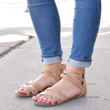 Woodstock Strappy Sandals Taupe