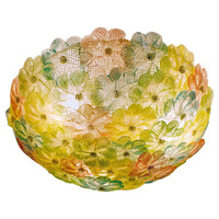 Beautiful Floral lamp by Barbini