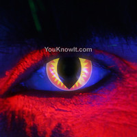 Rave / Glow Contact Lenses | i-Glow Red Dragon Contact Lenses (Pair)