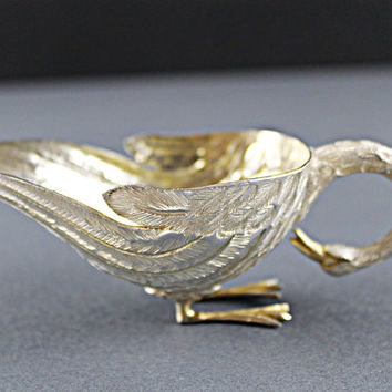 Mexican Sterling Silver Swan Bowl