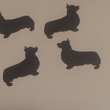 "2"" Paper Corgi Place Cards, Corgi Cutouts Wedding Shower, Die Cuts, Scrapbook Embellishments Tags Decorations Set of 24"