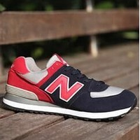 New Balance 2018 new men and women tide brand fashion couple sports shoes Blue/red