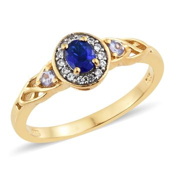 Blue Spinel Vermeil Gold Over Sterling Silver Ring