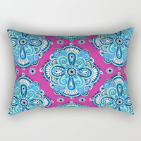 Bohemian Motif Pattern Rectangular Pillow by Sarah Oelerich
