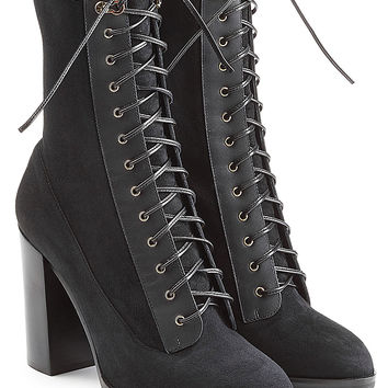 Sergio Rossi - Lace Up Suede Boots