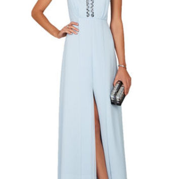BCBG Kristyn Plunging V-Neck T-Back Dress