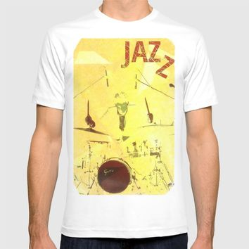 Jazz Poster T-shirt by Cinema4design | Society6
