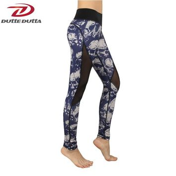 Adventures Time Mesh Fitness Leggings Fashion Active Wear Camouflage Skull Printed Workout Female Legency Women Casual Exercise