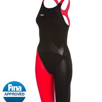 Speedo LZR Racer Elite 2 Comfort Strap Kneeskin Tech Suit Swimsuit at SwimOutlet.com - Free Shipping