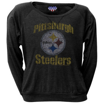 Pittsburgh Steelers - Vintage Juniors Long Sleeve T-Shirt