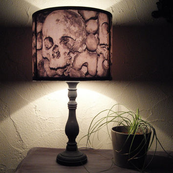 Paris Catacombs Skull Lamp Shade Lampshade Home Decor Lighting Halloween Decor Skulls