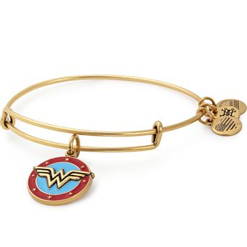 Wonder Woman Logo Charm Bangle