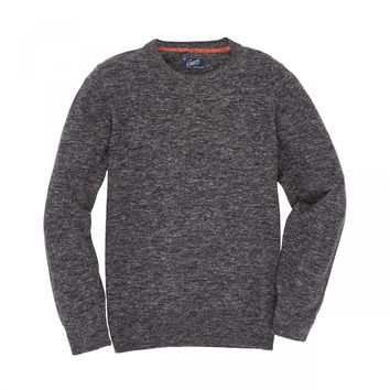Grayers Andover Wool Linen Crew Neck Charcoal