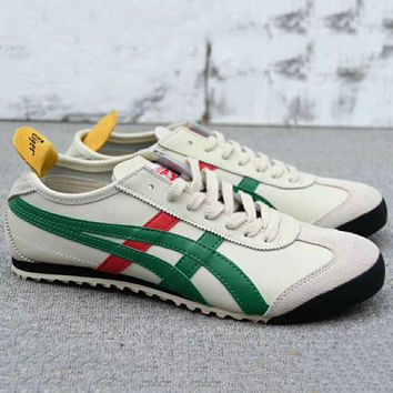 asics gel lyte onitsuka tiger women men running sport casual shoes sneakers beige green g a0 hxydxpf  number 1