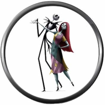 Jack And Sally Dance Nightmare Before Christmas Spooky Skellington 18MM - 20MM Charm for Snap Jewelry New Item