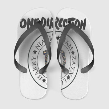 1D Flower Flip Flops Men Women