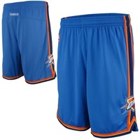 adidas Oklahoma City Thunder Revolution 30 Authentic Shorts - Light Blue