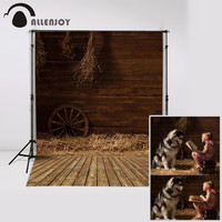 Allenjoy Photography background Wooden warehouse old house baby girl props fabric backdrops