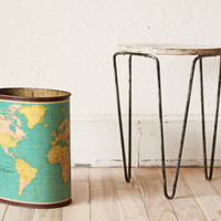 World Globe Trash Can