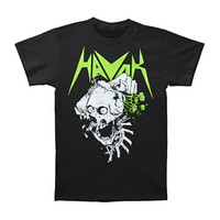 Havok Men's  Skull Brains T-shirt Black Rockabilia