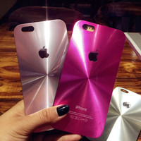 Pink Brushed Metal Face Case Cover for iPhone 7 SE 6 6S 6 Plus + Elephant Ring + Free Shipping + Gift Box