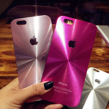 Metal Face Case Cover for Apple iPhone 5s 7 SE 6 6S 6 Plus 6S Plus  + Gift Box